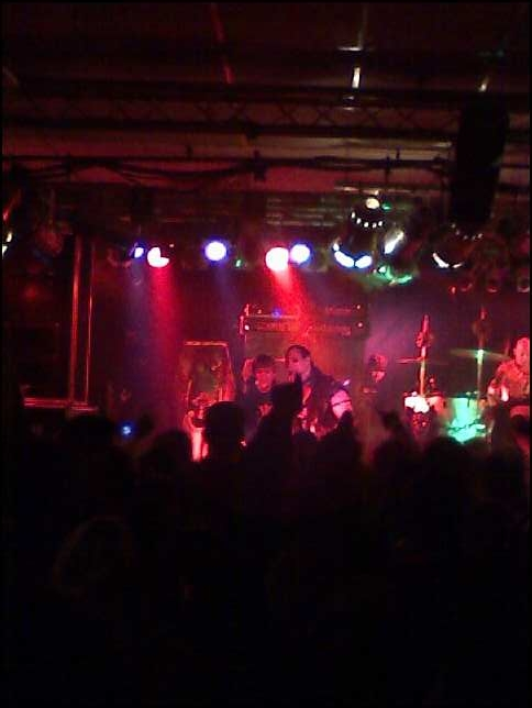 Jerry and young fan on stage at the Alrosa Villa on Dec. 12